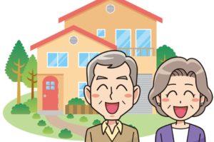 老夫婦と自宅兼事務所