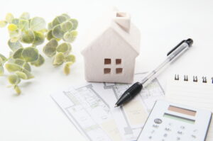 家・住宅。家の間取り。不動産。新生活や新築、ライフスタイルイメージ。